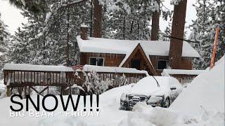 Big Snowstorm in Big Bear Lake California!