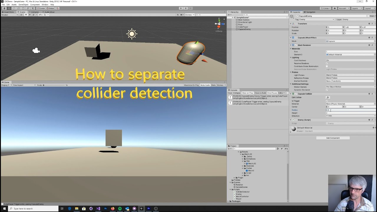 Detect Ranges With Separate Colliders