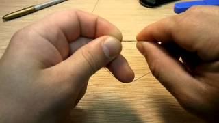 Как завязывать поводок из лески на леску