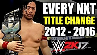 WWE 2K17: Every NXT Title Change (2012 - 2016)