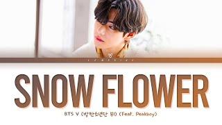 BTS V Snow Flower Lyrics (feat. Peakboy) (방탄소년단 뷔 Snow Flower 가사) [Color Coded Lyrics/Han/Rom/Eng]