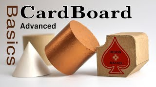 CardBoard Advanced Basics Tutorial overview for model making: modeling for Designers & Architects