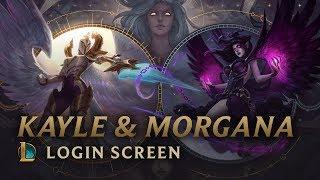 Kayle & Morgana, the Righteous & the Fallen   Login Screen - League of Legends