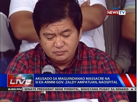 [GMA]  NTVL: Akusado sa Maguindanao massacre na si ex-ARMM Gov. Zaldy Ampatuan, naospital