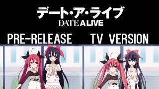 Whereabouts of Tohka's Left Arm - Date A Live 3 Pre-Release/TV Ver. Comparison