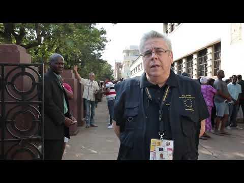 MOE UE Moçambique 2019: Observando a abertura de mesas con o Chefe dos Observadores