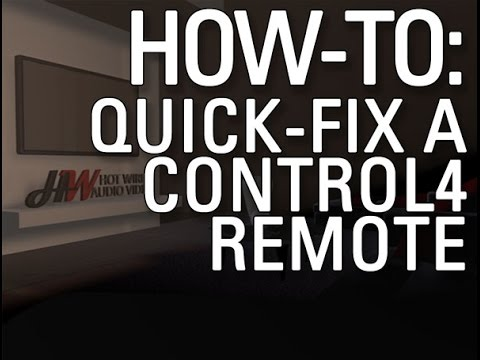 How to Reboot Control 4 Remote