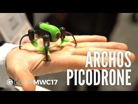 Archos PicoDrone im Hands-On (deutsch): 🚁 Winz-Drohne für 70 Euro - MWC 2017 - GIGA.DE