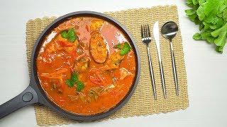 Рыба в томатном соусе с овощами. Рецепт от Всегда Вкусно!