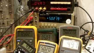 8 Dmm Hooked To Same Dc Voltage Source