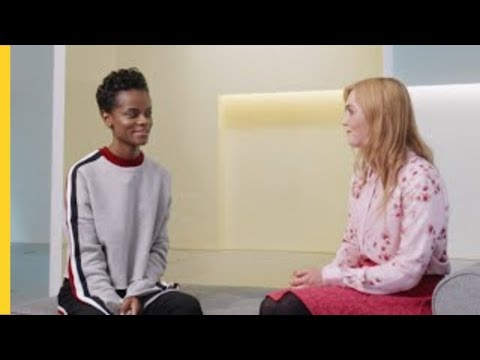 Letitia Wright Meets Kim | Shell Eco-marathon | #makethefuture