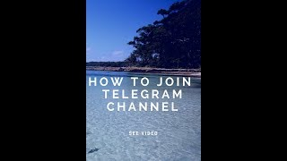 How to join Telegram channel????