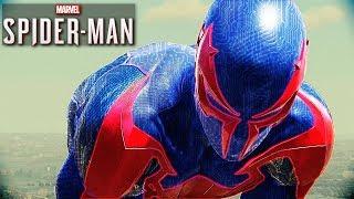 SPIDER MAN PS4   2099 Suit Free Roam Gameplay