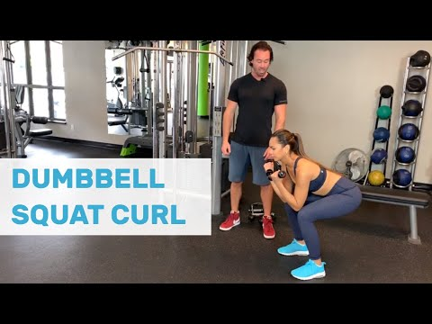Dumbbell Squat Curl
