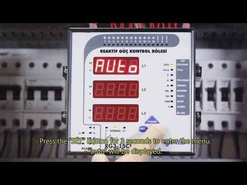 RG3-15 CLS Power Factor Controller Entering The Index Values Of Meters