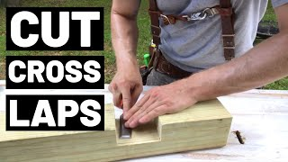 How To CUT CROSSLAPS (In Thick Lumber)