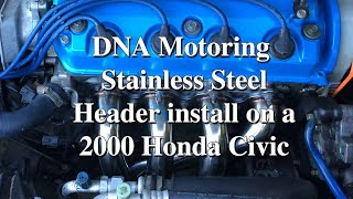 DNA Motoring Stainless Steel Header Install On The 2 Door Honda Civic #Howto #EJ6
