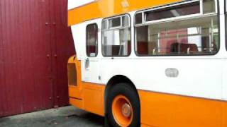 Atlantean starting up at Manchester bus museum 31/10/2009