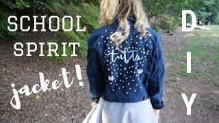 DIY SCHOOL SPIRIT DENIM JACKET + embroidery, embellishment, & fabric painting