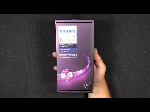 Philips Hue 1m Lightstrip Plus Extension - Unboxing & Setup