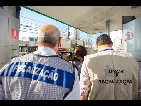Postos de combustíveis: Governo do Estado e Prefeitura realizam fiscalização conjunta
