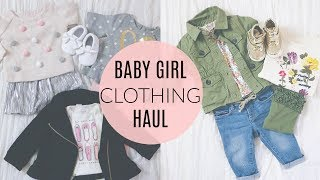 HUGE BABY GIRL Clothing Haul- Old Navy, Carters & Baby Gap