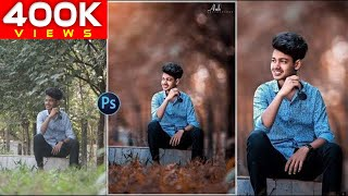 Photoshop Tutorial  How to Edit Outdoor Portrait   Blur & Color Background