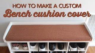 How To Make A Custom Bench Cushion Cover   A Thousand Words