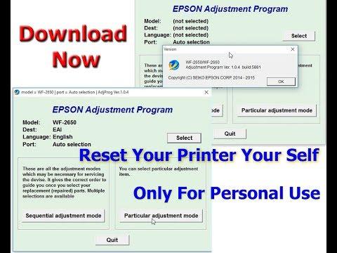 Reset Epson WF 2750 by Adjustment Program - смотреть онлайн
