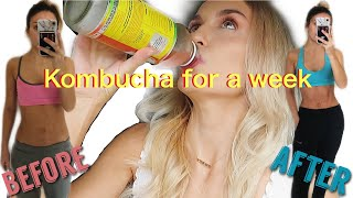 I DRANK KOMBUCHA EVERY DAY FOR A WEEK + this is what happened | BEFORE & AFTER results