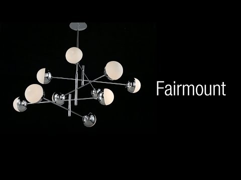 Video for Fairmount Chrome 10-Light LED Chandelier