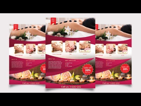 Spa Flyer PSD | How To Create A Flyer In Photoshop Mp3