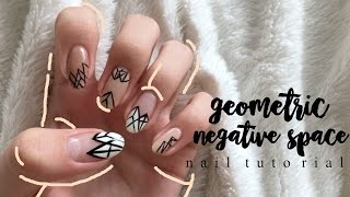 how to | geometric negative space nails