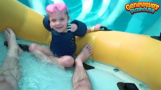 Family Fun Water Slides Indoor Waterpark for Kids with Genevieve