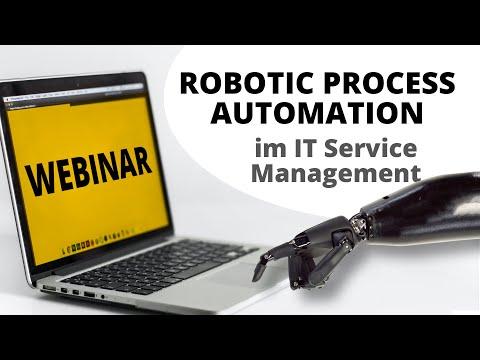 Unser Webinar zum Thema Robotic Process Automation im IT Service Management