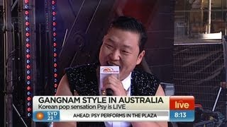 PSY, Sunrise : Psy takes over Sunrise