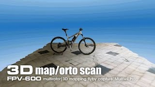 3D map/ortographic capture using FPV-600 multirotor on bicycle
