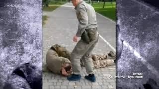 На Одещині п'яних дебоширів у формі зі зброєю ледь не забили палицями перехожі