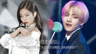 Taehyung react jennie SOLO | Golden Disc Award 2019