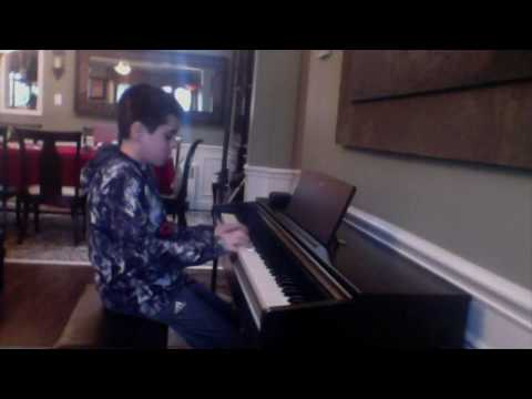 One of my piano students playing for my showcase features on my YouTube teaching channel.