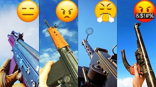 Playing with the Most HATED Guns in different Battlefield games