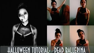 Dead Ballerina Halloween Tutorial! (Hair, Makeup & Costume)