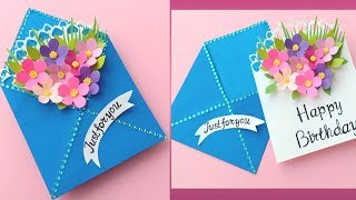 How To Make Envelope Surprise Birthday Card / Handmade Easy Card Tutorial