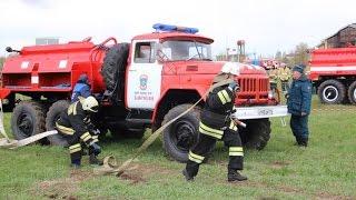 Переходящий кубок и пожарный автомобиль достались пожарным добровольцам Высокогорского района