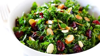 10 Day Detox Diet Recipes - Raw Kale Salad Recipe