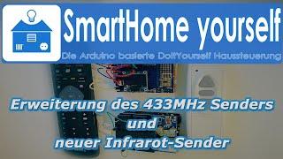 Erweiterung des Funksenders , neuer IR-Sender und ein 433MHz / IR-Scanner