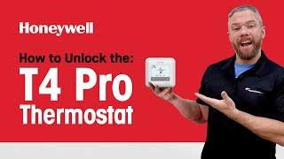 How to Unlock the Honeywell T4 Pro Thermostat