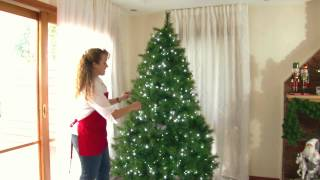 Decorating a Christmas Tree with Purple, Black and Silver