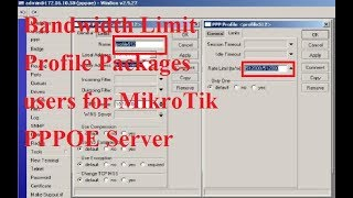 How to Bandwidth Control on PPPoE Server Using Mikrotik RB750R2 Router