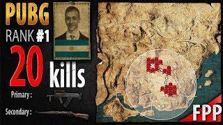 PUBG Rank 1 - p0me 20 kills [SA] SQUAD FPP - PLAYERUNKNOWN